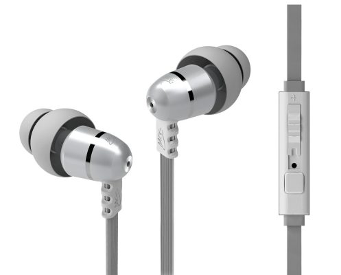 MEElectronics M9P Flat Cable In-Ear Headphones-mic-remote-sale-02