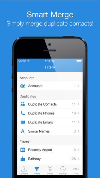 Smart Merge Pro - Duplicate Contacts Cleanup for addressbook, Facebook & Linkedin-iOS-app-sale-free-01