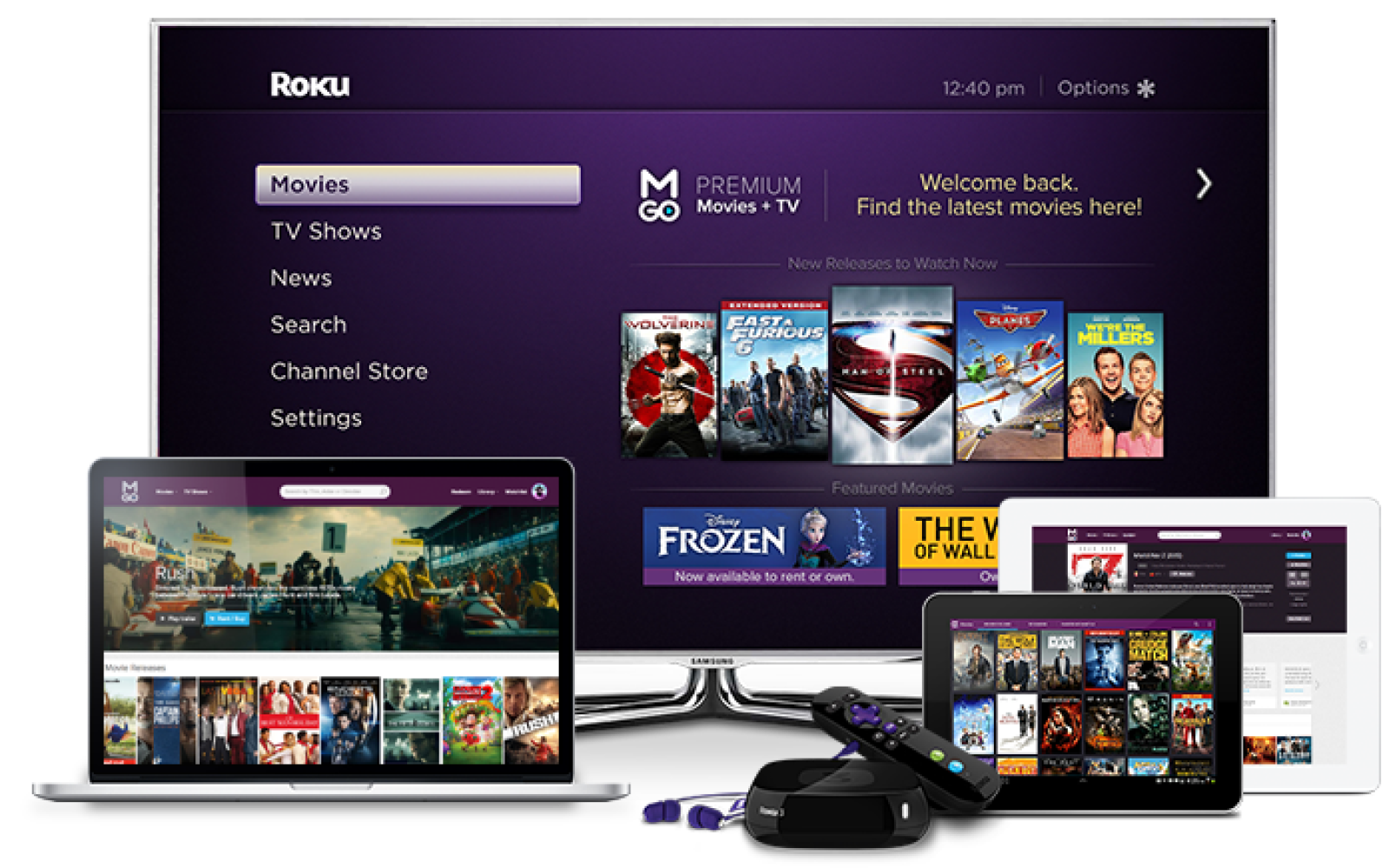 Free movie rental from M-GO: Available for iOS, Android, & Roku (~$5 value)