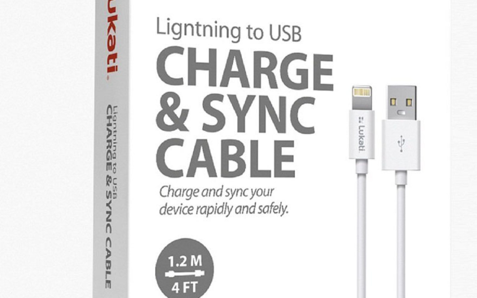 Lukati Mfi Certified 4 Foot Lightning Cable 8 Prime