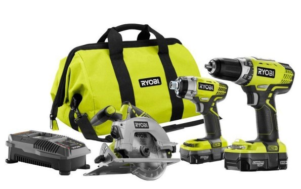 Ryobi One+ 18-Volt Lithium-Ion Combo Kit (3-Tool)-sale-01