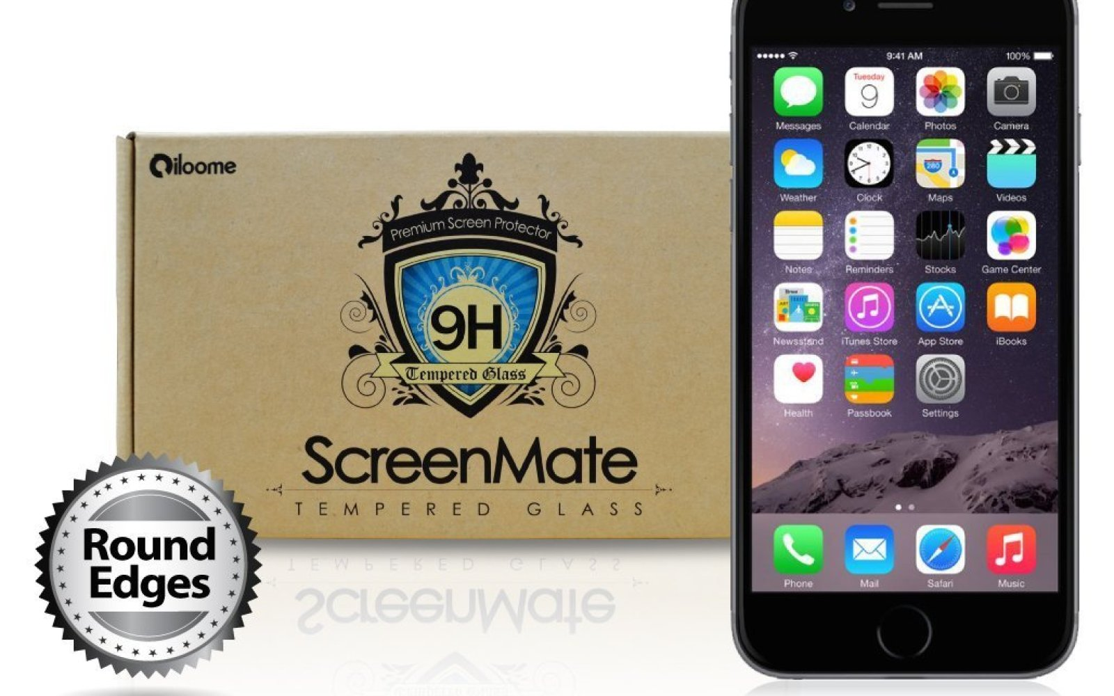 """iloome readies """"the world's first"""" curved tempered glass screen protector for iPhone 6/6 Plus"""