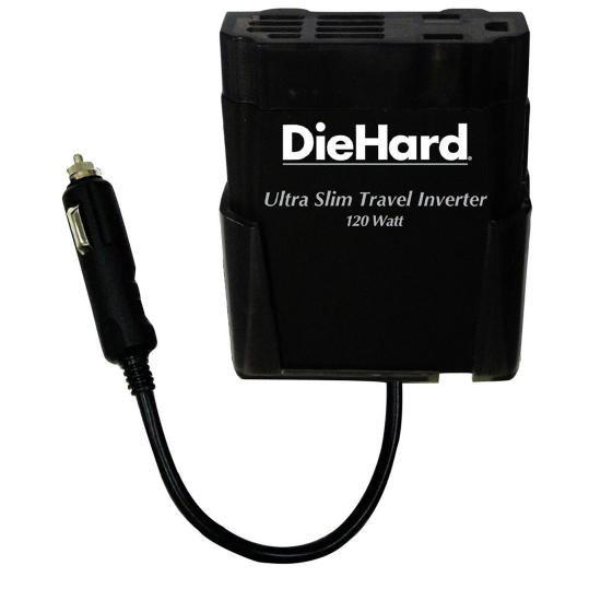 DieHard 120-Watt Ultra-slim Travel Inverter with Built-in USB Port