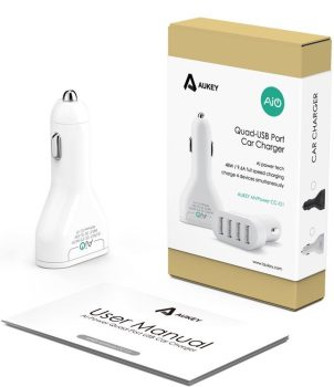 aukey-4-port--car-charger