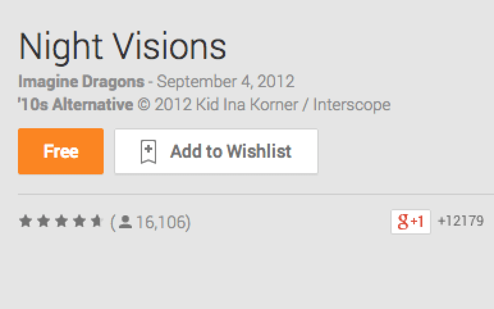 imagine dragons night visions tracklist deluxe