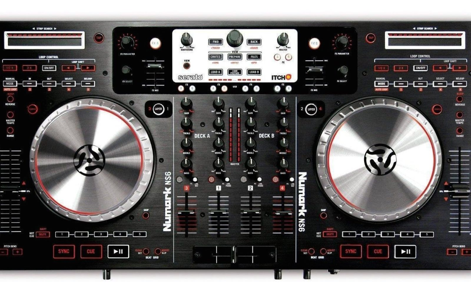 numark ns6 professional 4 channel dj controller for mac pc 400 shipped reg 700 more 9to5toys. Black Bedroom Furniture Sets. Home Design Ideas
