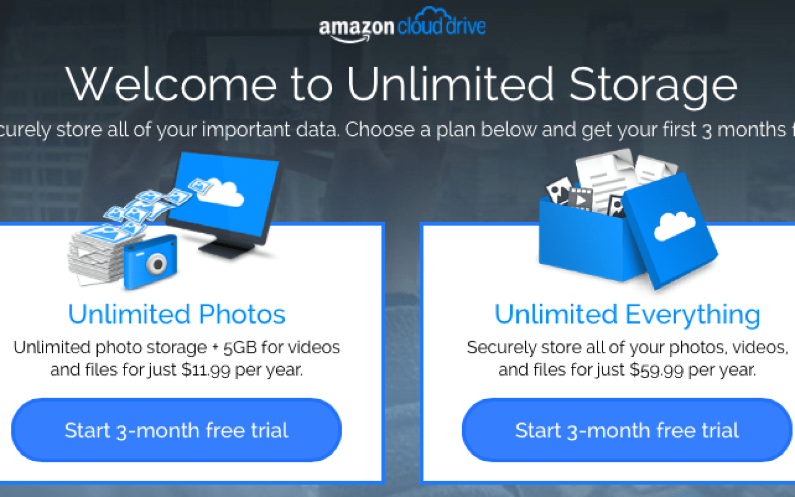 Amazon announces unlimited Cloud Drive storage for all of your