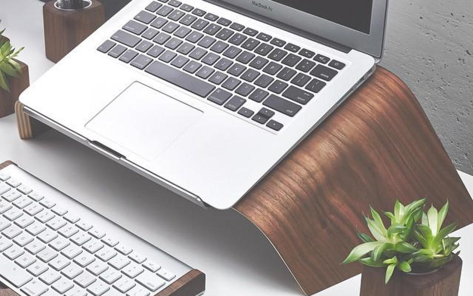 Give your MacBook a boost with this stunning USA-sourced wooden stand from Grovemade