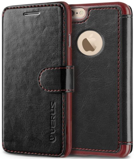 iPhone 6 Plus Case, Verus [Special Edition] iPhone 6 Plus 5.5%22 Wallet Case [Layered Dandy Dairy][Black]-sale-01