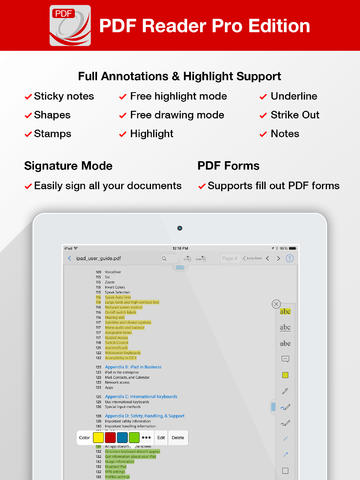 PDF Reader Pro Edition for iPad-sale-01