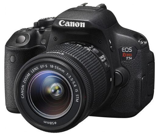 Canon refurbished cameras w/ 1-yr warranty: T5i DSLR w/ 18