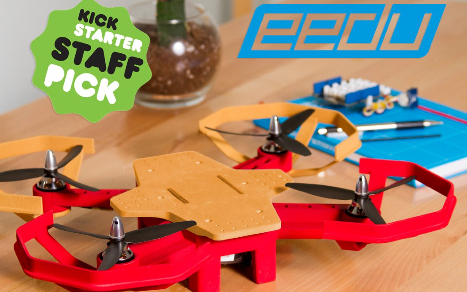 Eedu DIY drone kit uses hands-on learning to teach kids how to code