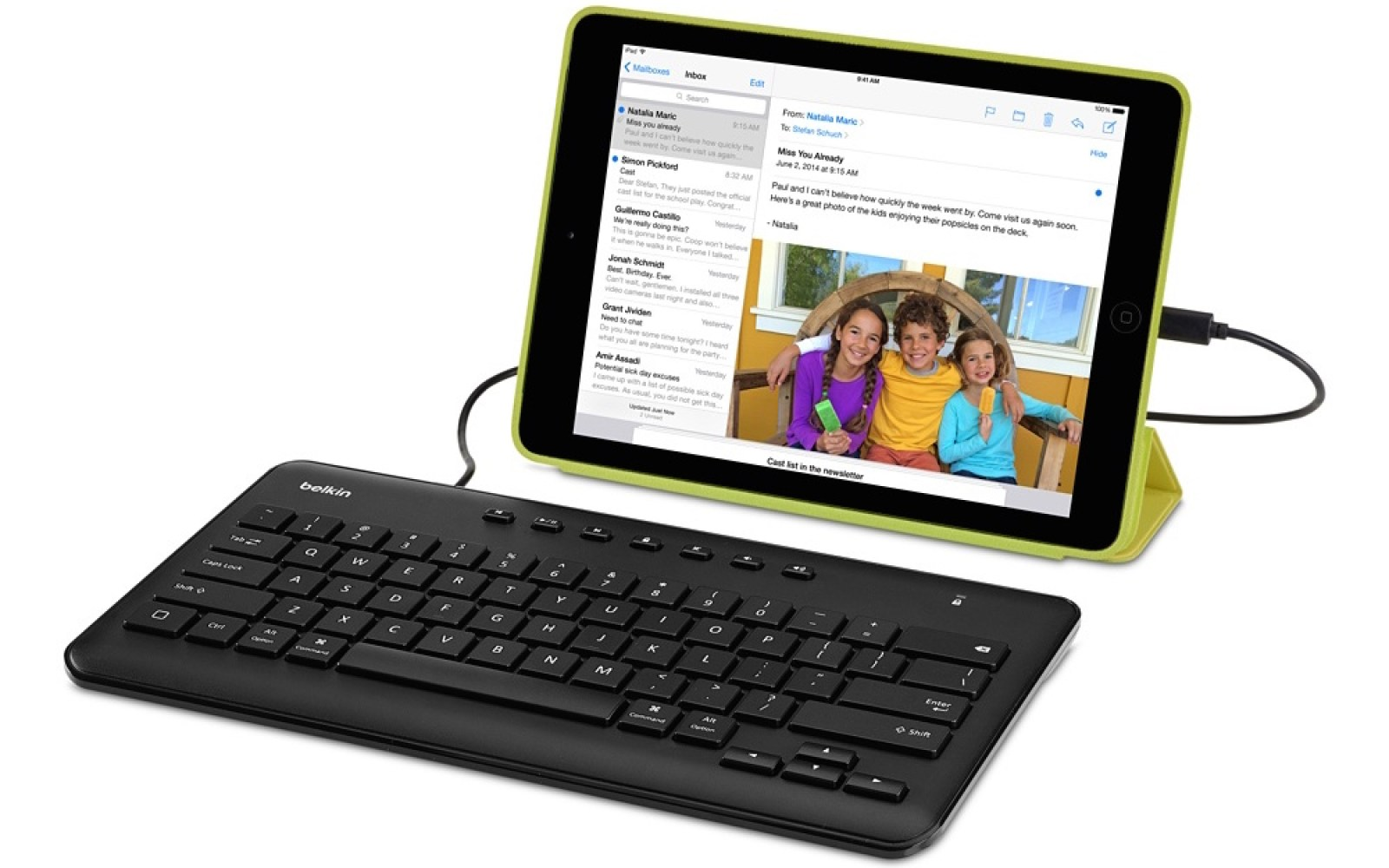 Belkin's MFi Lightning Keyboard for iPad doesn't require batteries and is on sale for $40 shipped (Reg. $60)