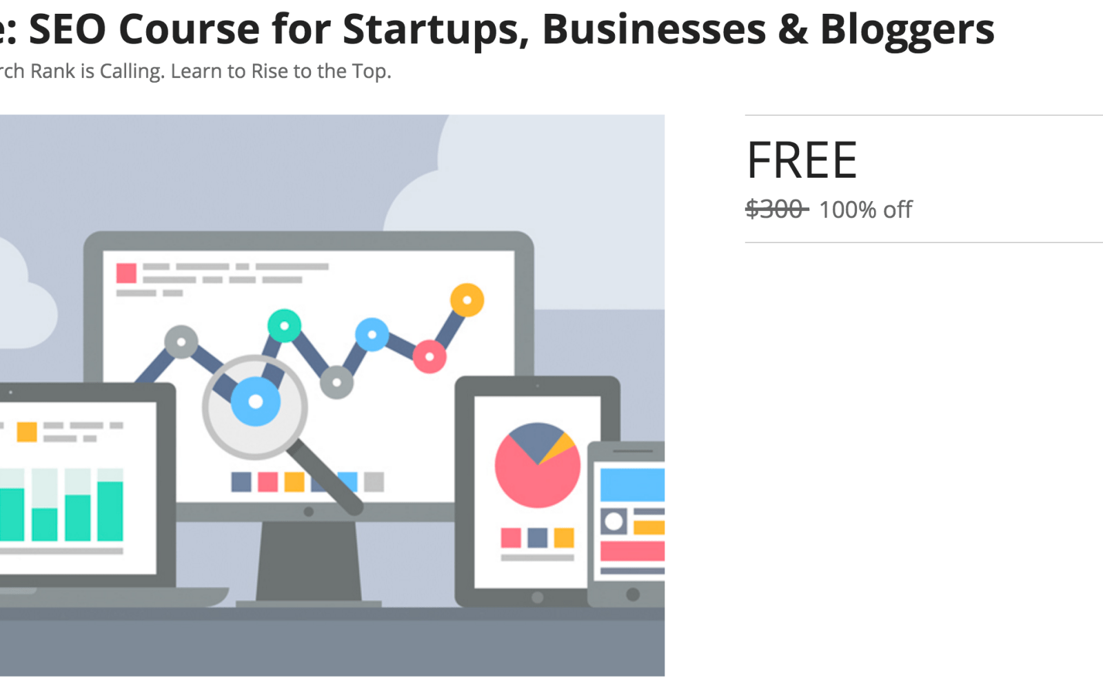 Freebies: SEO Course for Startups, Businesses & Bloggers +
