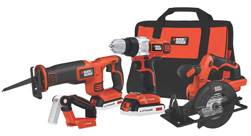 Black+Decker 20-Volt MAX Lithium-Ion 4-Tool Combo Kit