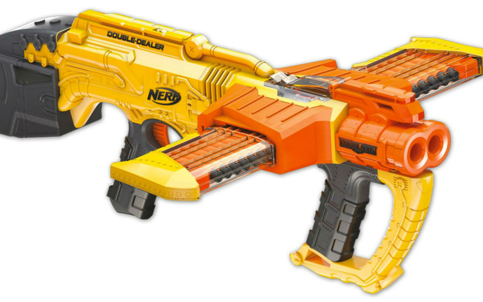 You have to see NERF's new Crossbow and Zombie Brainsaw that are