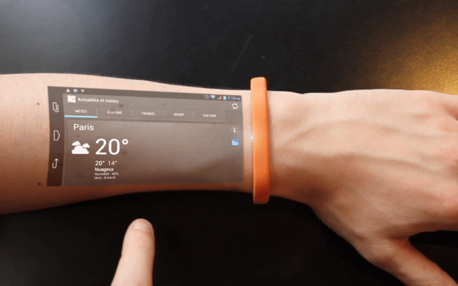 The Cicret Bracelet puts a smartphone display on your arm with full touchscreen functionality