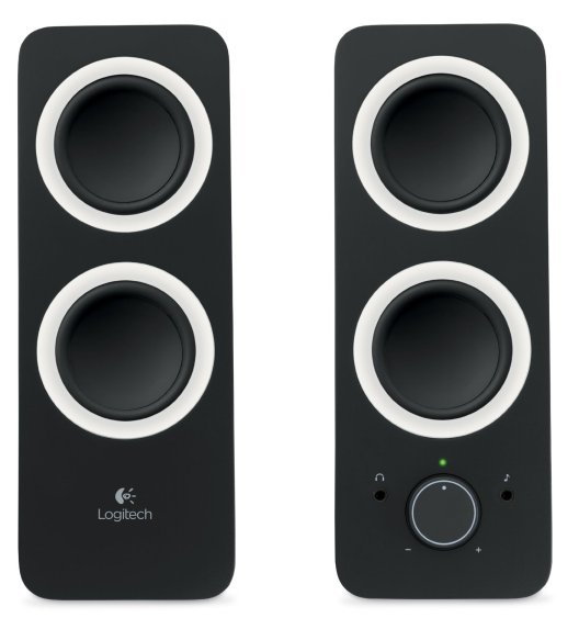 Logitech Multimedia Speakers Z200 with Stereo Sound for Multiple Devices