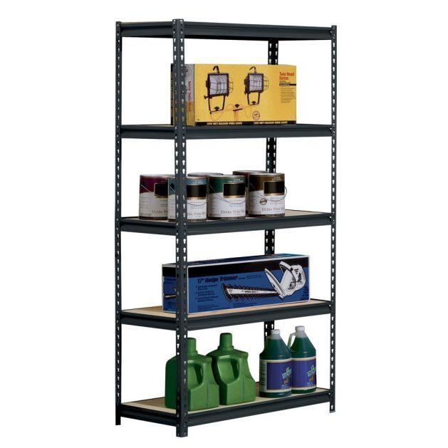 black steel heavy duty shelf