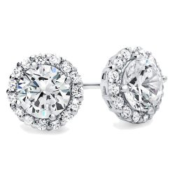 Cubic Zirconia Stud Diamond Halo earrings