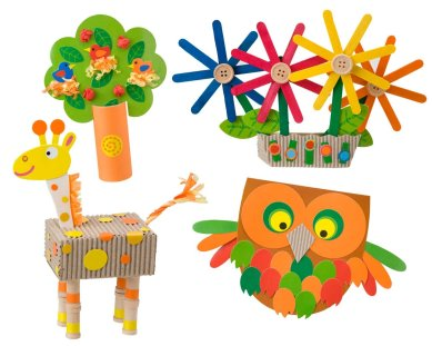 Eco Crafts recycled paper craft examples