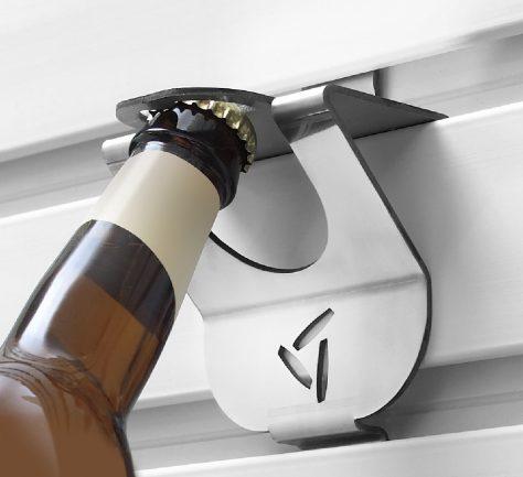 Gladiator garage hook bottle opener