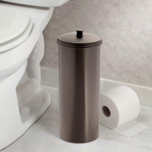 interdesign toilet paper holder bronze