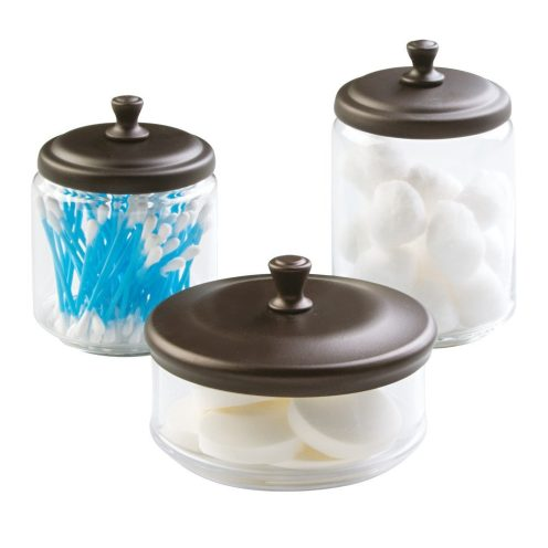 interdesign york vanity glass canister