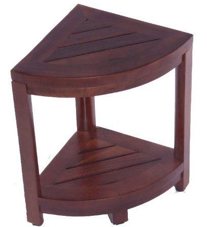 oasis teak shower stool foot rest