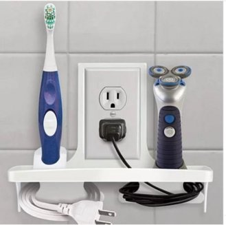 wall outlet organizer bathroom