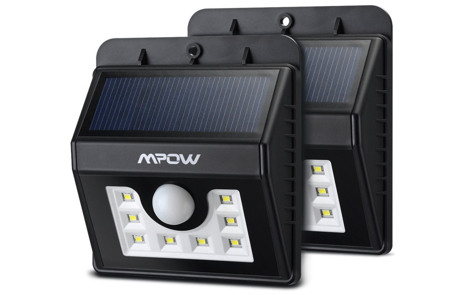 Green Deals 2 Pack Mpow 8 Led Solar Outdoor Lights As Low