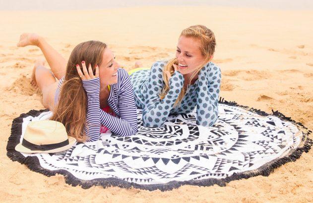 swimzip round beach towel