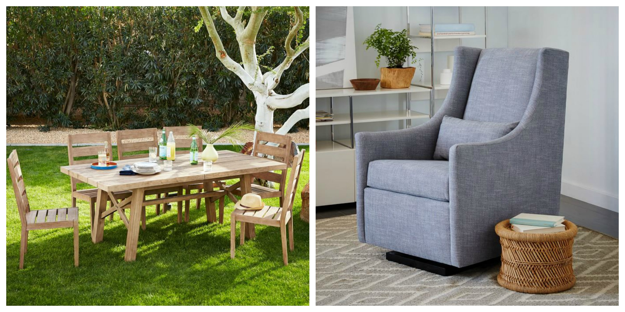 Furnish Your Home W/ Up To 70% Off At West Elm: Outdoor Dining Set $1,400,  Accessories From $15, More