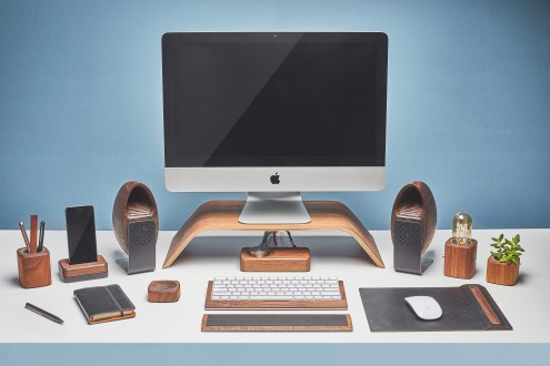 Grovemade - Desk Collection - Speaker System Walnut