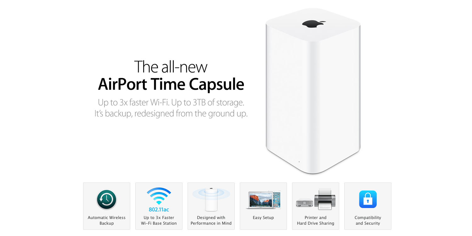 Wireless backup apple time machine wire center supercharge your home s wi fi enjoy foolproof time machine backups rh 9to5toys com apple time machine manual apple time capsule cheapraybanclubmaster Images