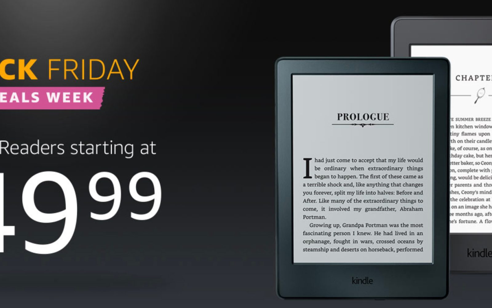 Amazon kicks off its Kindle E-reader Black Friday promotion