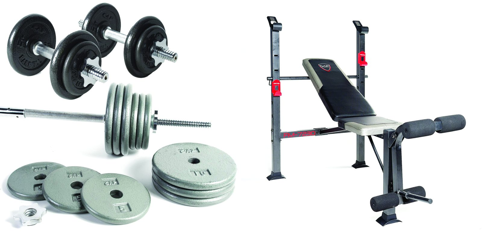 50ca33f50d8d Jump start 2017 with new CAP Strength Training Gear in today's Gold Box: 40-lb.  Adjustable Dumbbell Set $40, more