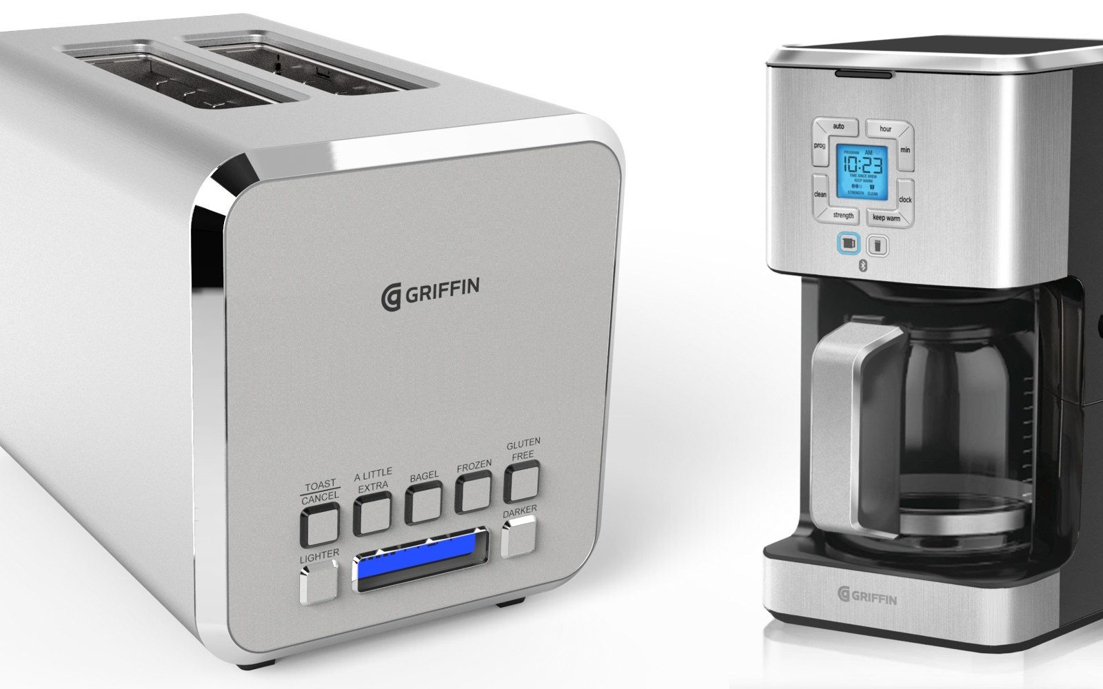 Griffin Looks To Make Your Morning Routine Smarter W New The Connected Toaster Coffee Maker And Futuristic HUD Mirror