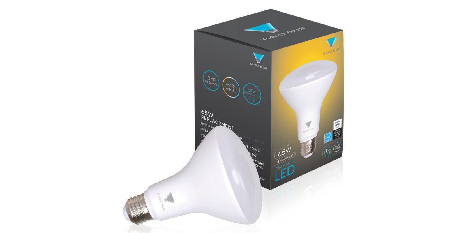 Green Deals 6 Pack Triangle 65W BR30 Dimmable LED Light Bulbs 30 Prime Shipped More