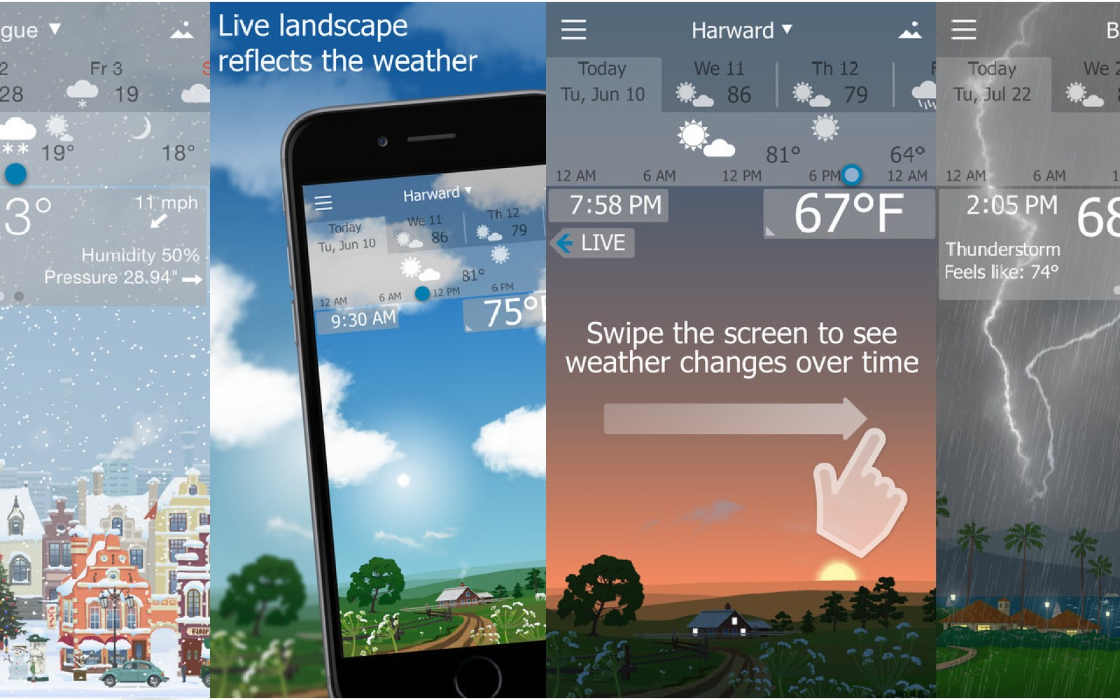 YoWindow Weather for iOS w/ living landscape mode is now available for free (Reg. up to $3)