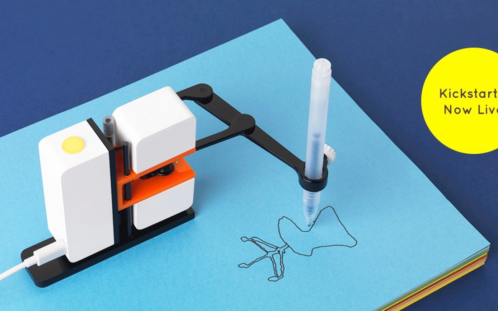 Line-us lets you sketch on real paper with its robotic arm all from your iPhone, iPad and Mac