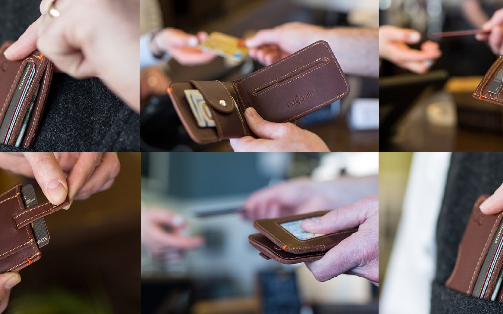 Pad & Quill's new line of full-grain leather men's wallets
