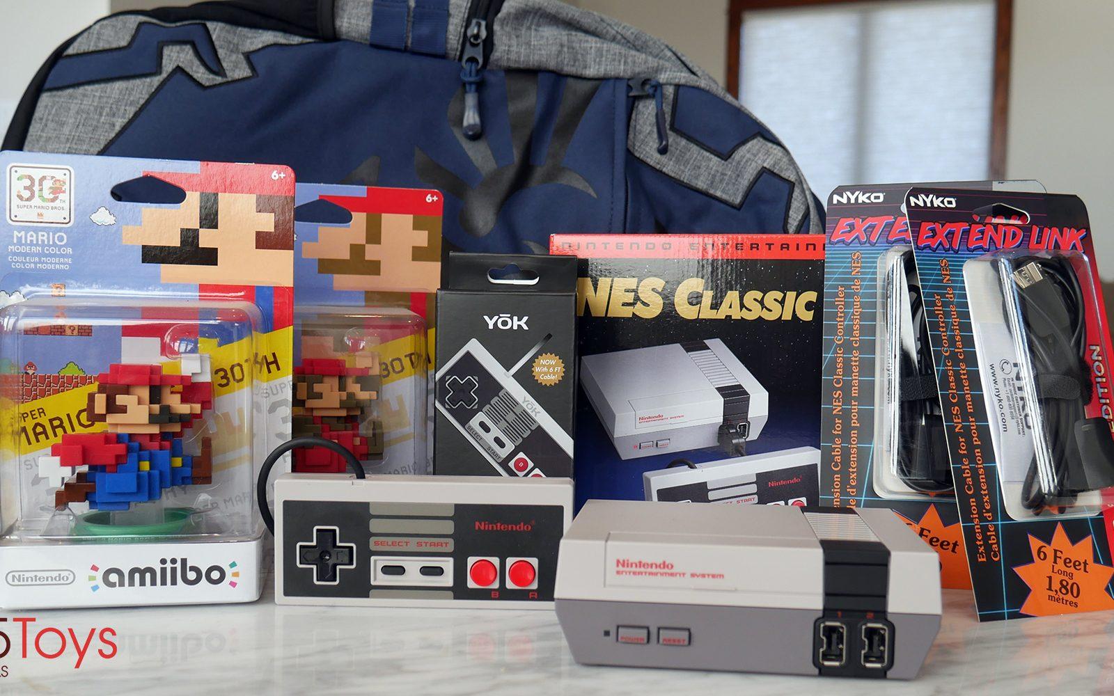 9to5rewards Nes Classic Edition Bundle Giveaway W Extra Controller Nintendo Switch Grey 2game 2amiibo Zelda Backpack 2x Mario Amiibo More 150 Value