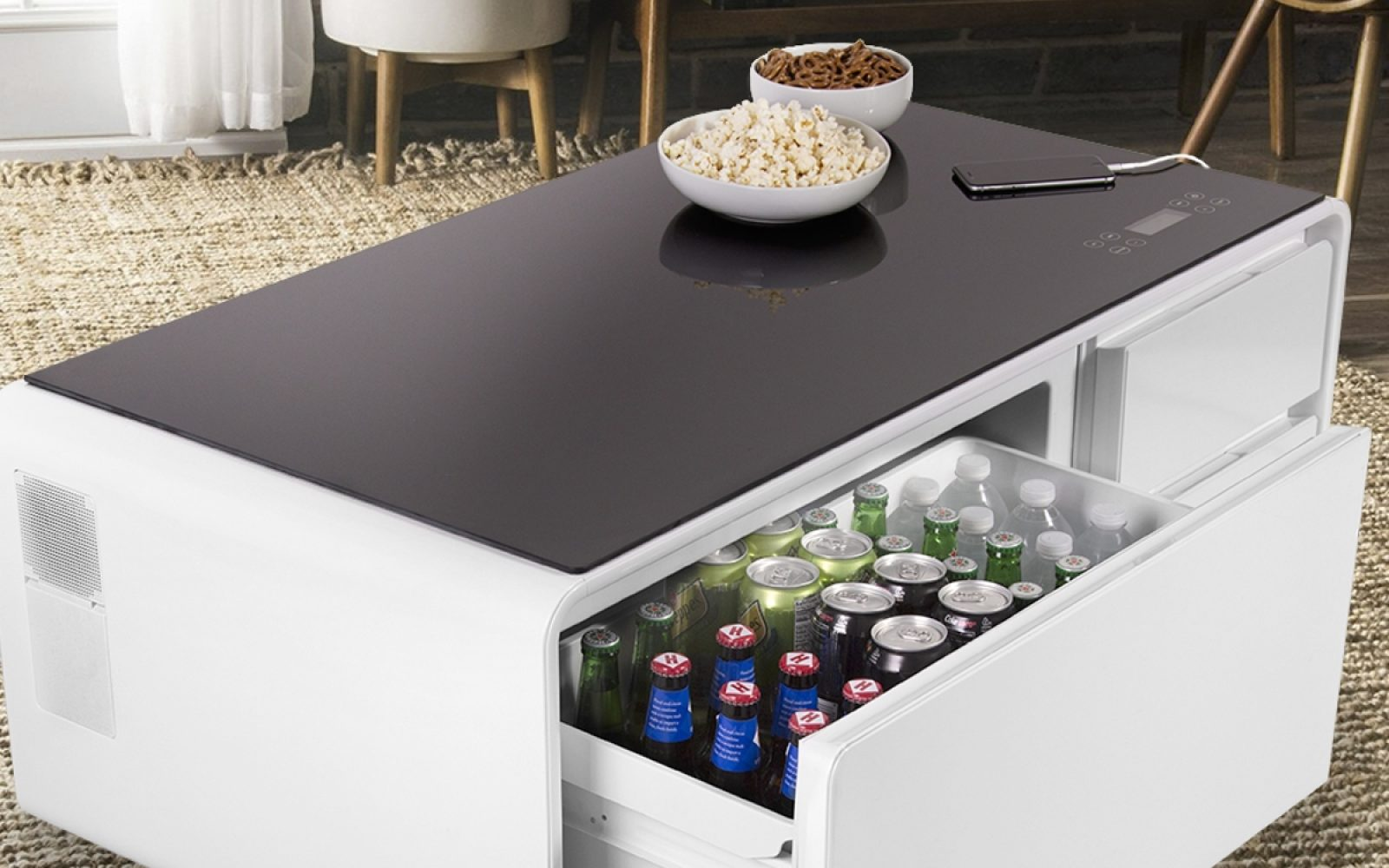 Refrigerator Coffee Table.Sobro Is The Cooler Coffee Table That Features An Integrated