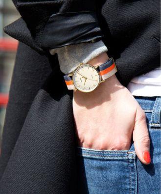 Gold-Tone/White Timex Fairfield Women's Watch