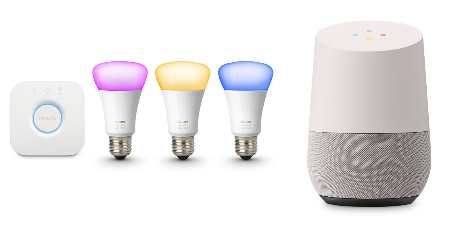 Google Home Philips Hue White Amp Color Lighting Kit 258