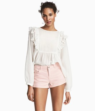 H&M Pink Twill Shorts