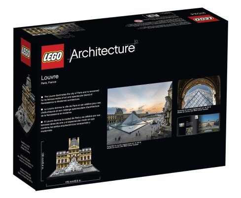 LEGO Architecture Louvre Building Kit-1