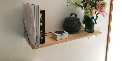 Echo Dot Stand Small on Shelf 3