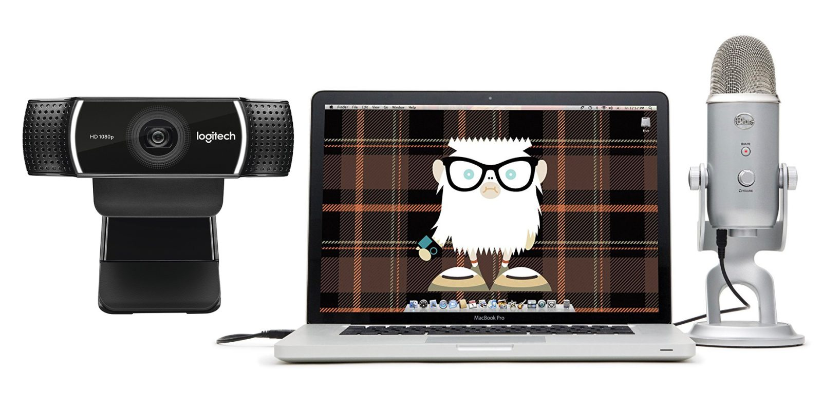 Logitech Pro Stream Webcam + Blue Yeti USB Mic Bundle: $150